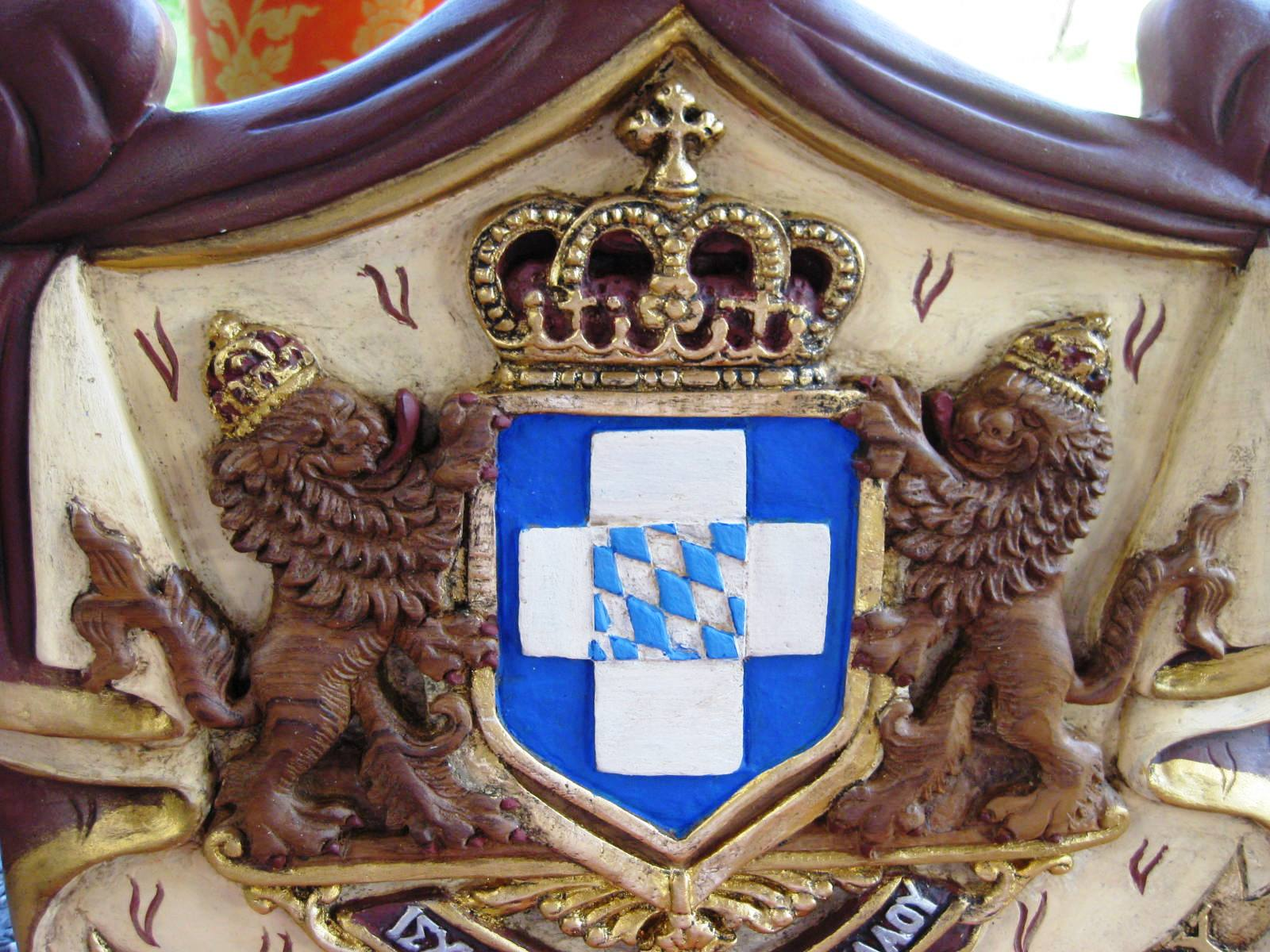 Greek Royal Arm Code Lions Crest