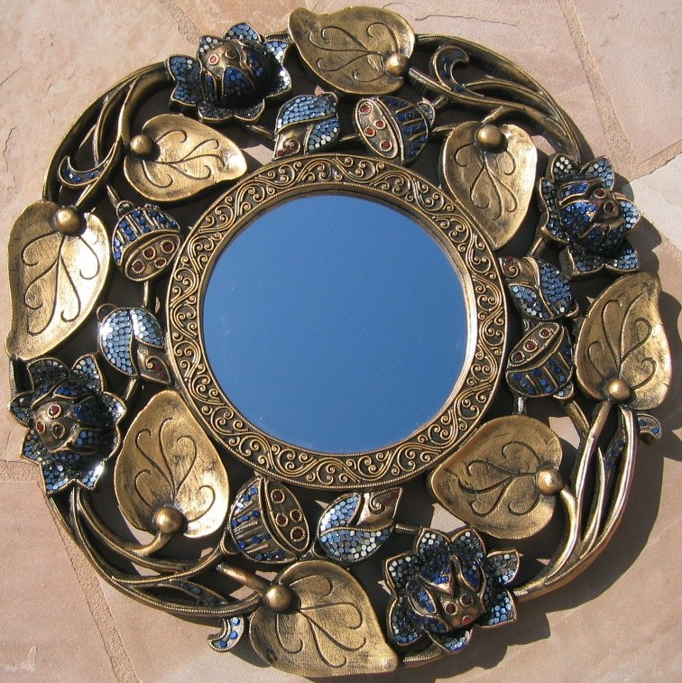 Nongnit 39 s treasures decorative mirrors asian handcrafted for Miroirs decoratif