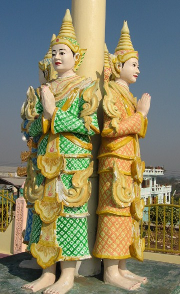 Teppanom angels Burmese Temple