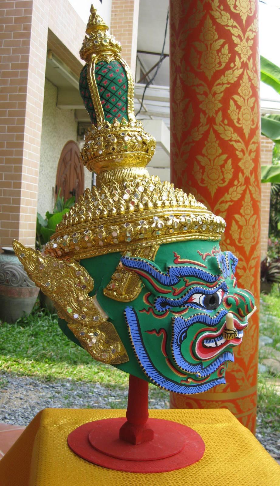 Thai mythology phra pipek khon mask