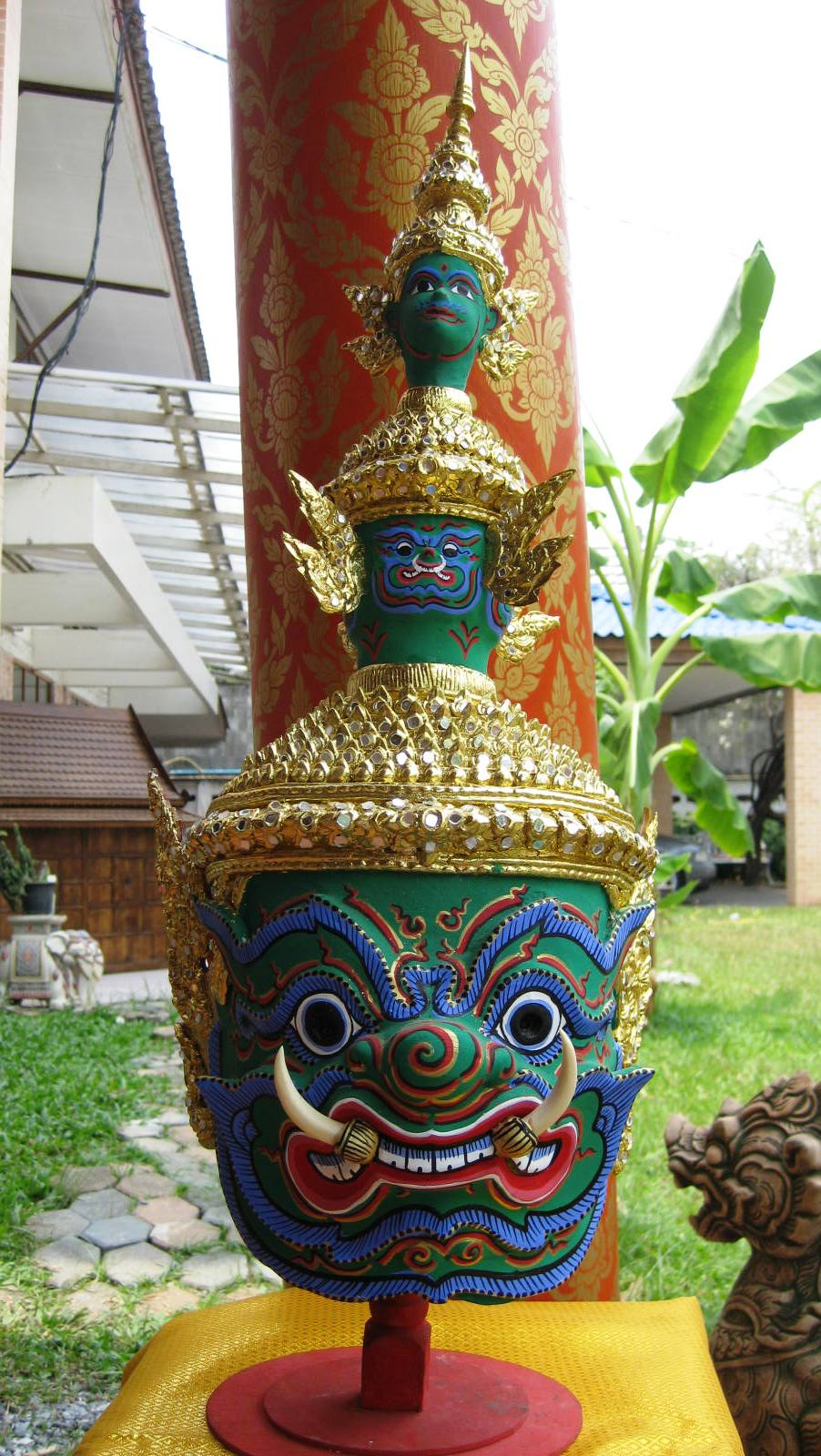 Totsakan Green  Khon Mask