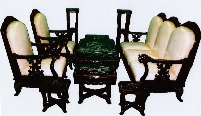 Sensational Animal Motifs 10 Piece Living Room Set Lacquerware From Vietnam Uwap Interior Chair Design Uwaporg