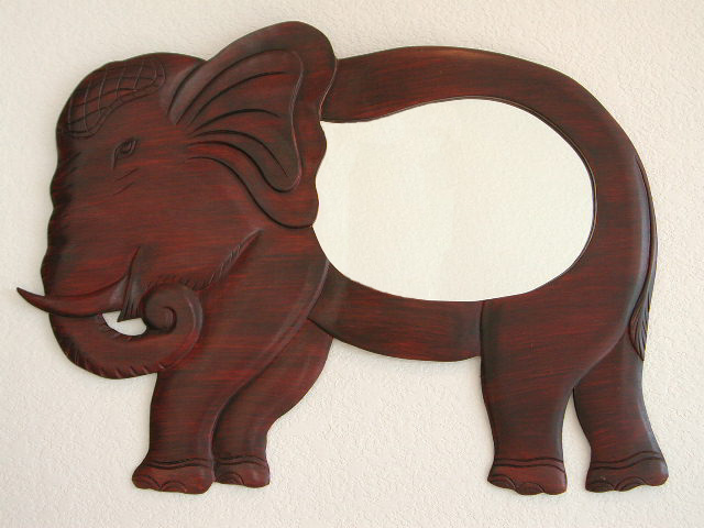 Extra Large Standing Elephant Mirror Dark