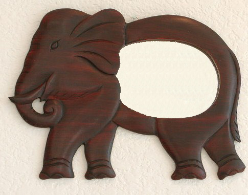 Small Standing Elephant Mirror