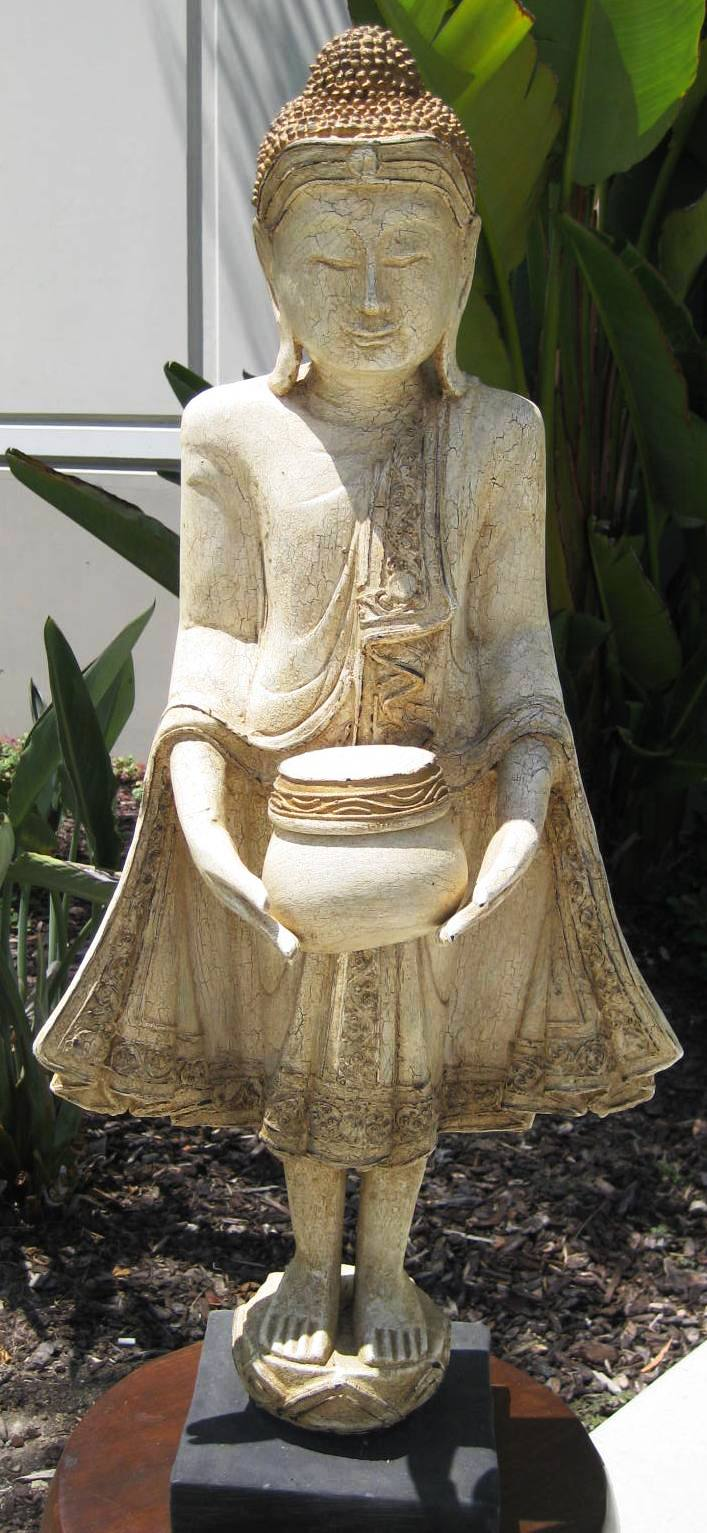 Small Standing Buddha with Begging Bowl