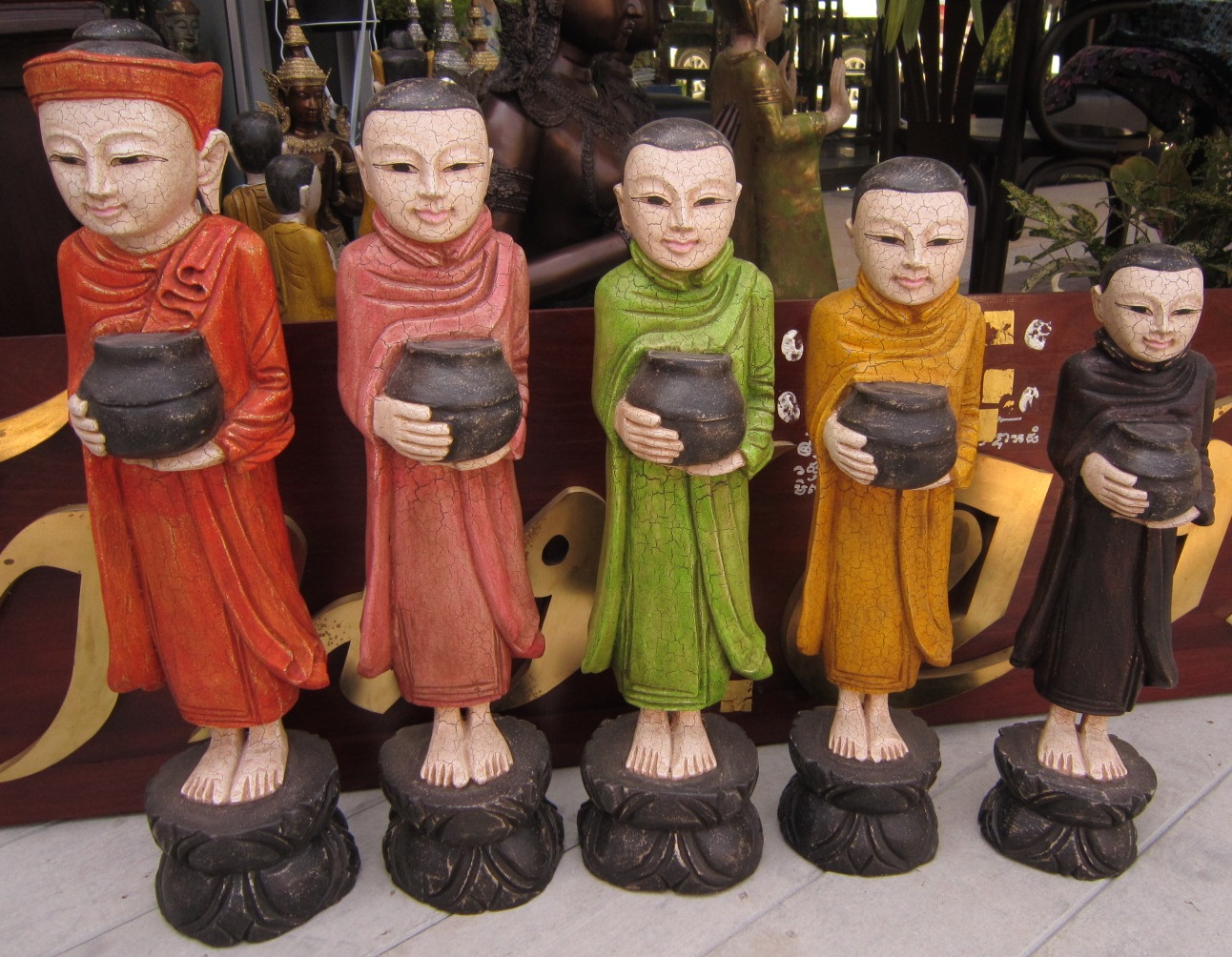 Set of Multi Color Buddha and Disciples