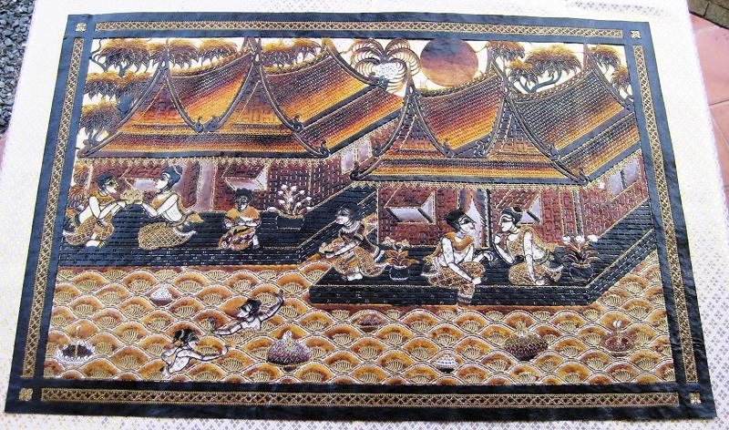 Talung hand carved leather from southern thailand