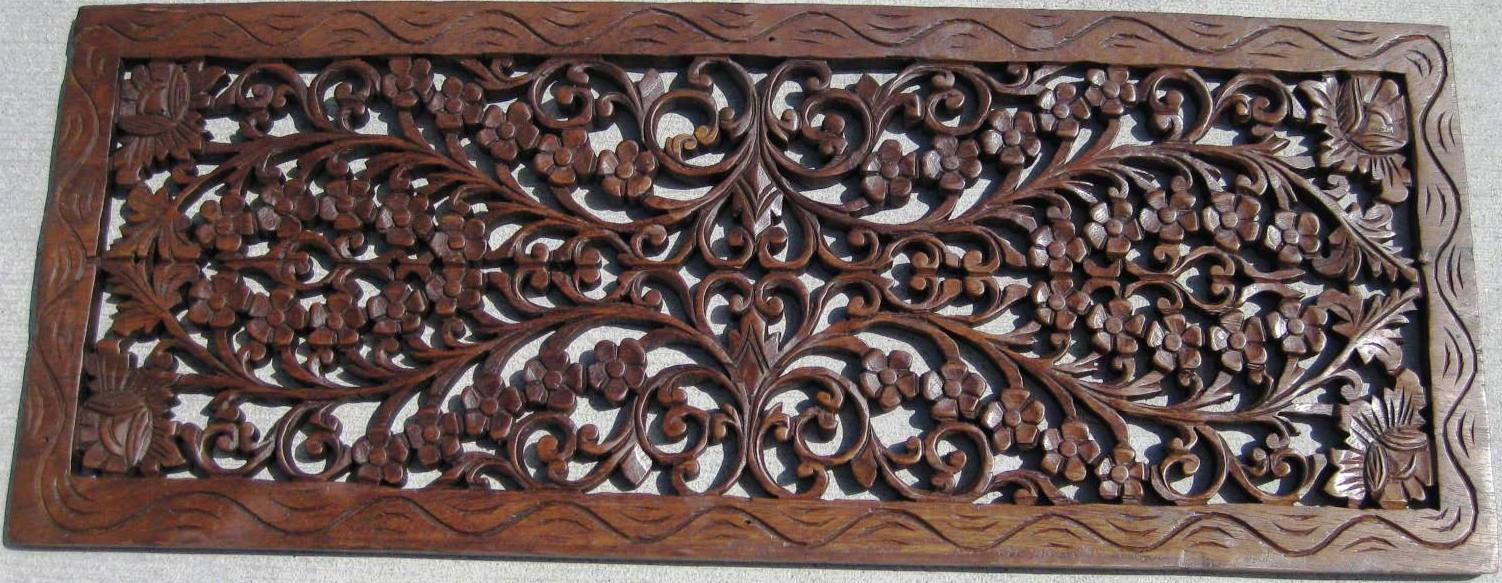 1'x3' Teak panel oak finish