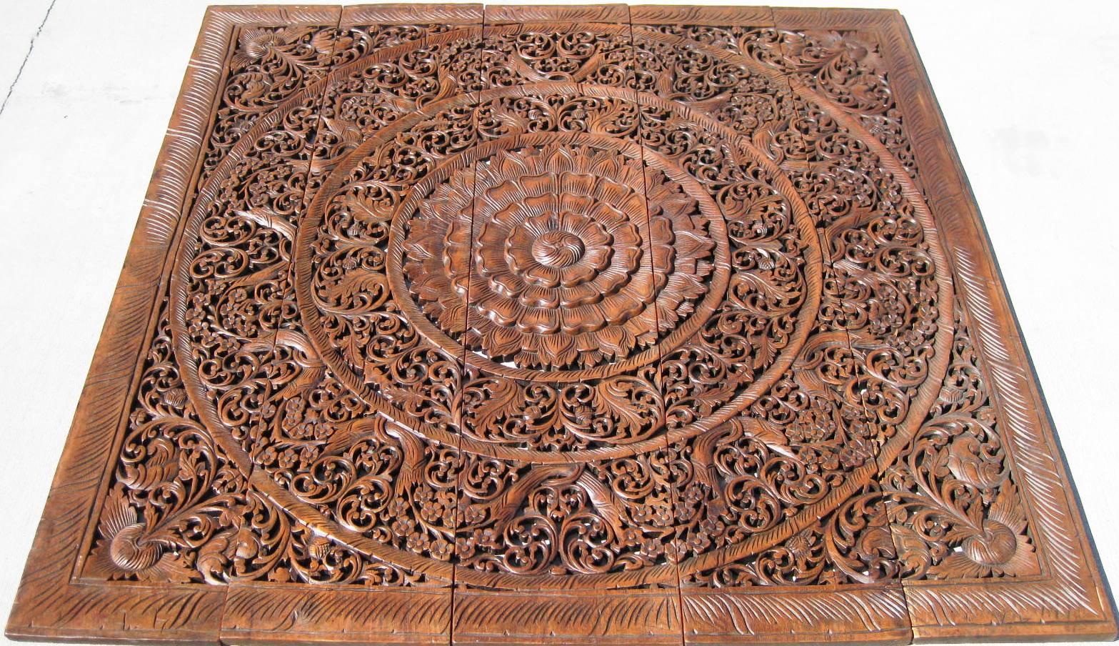 Ft teak wood panel